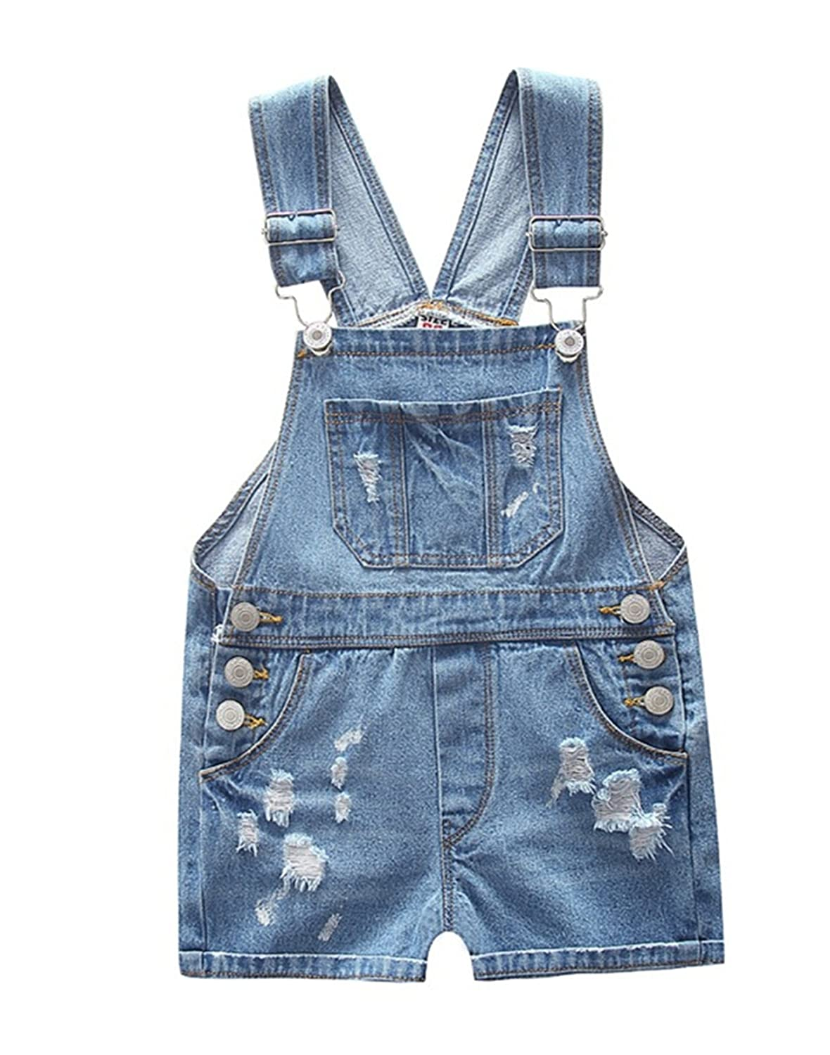 Ding-dong Toddler Kid Boy Girl Denim Shortall