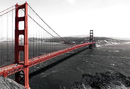 San Francisco Golden Gate Bridge Wallpaper Mural Amazon Com