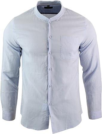 LEYO 300 - Camisa de Lino para Caballero Algodon Bolsillo ...