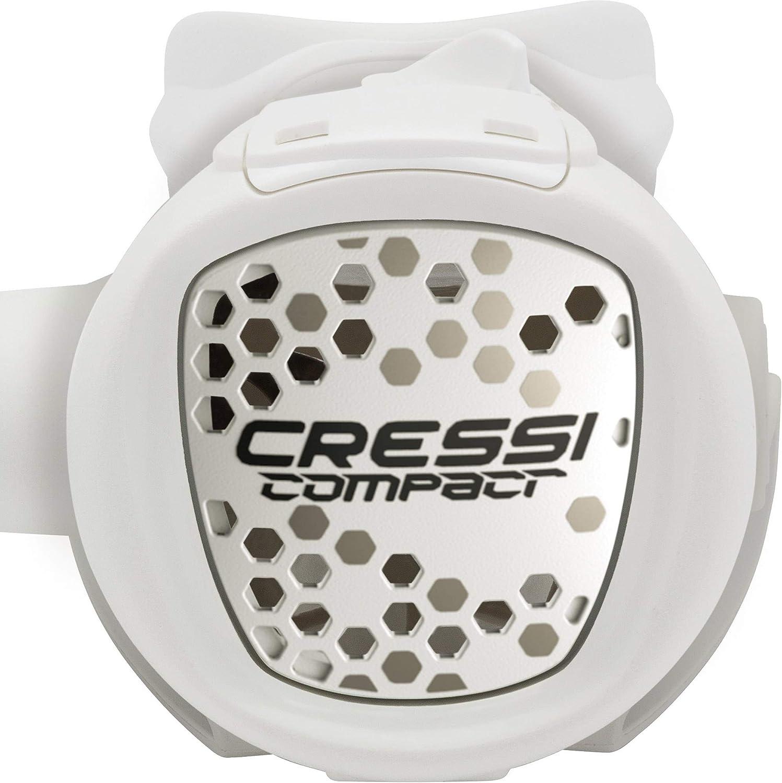 Cressi MC9//Compact Regulator Regulador equilibrado para Buceo INT White One Size Unisex-Adult