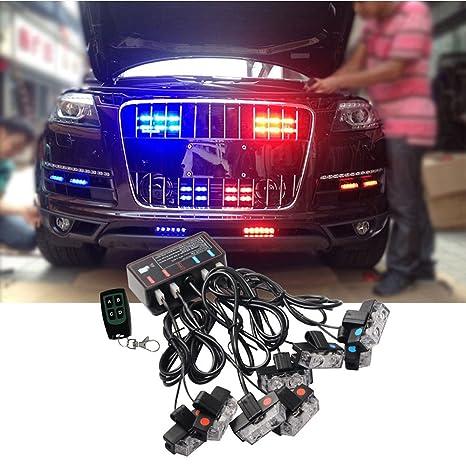 Amazon blue red led flashing modes car truck emergency flash blue red led flashing modes car truck emergency flash dash vehicle strobe light lamp bars warning aloadofball Gallery