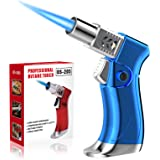 ZEBRE Butane Torch, Blow Torch Lighter Mini, Windproof Refillable Butane Fuel Torch Lighter, Ideal for Cooking Grill BBQ Cand