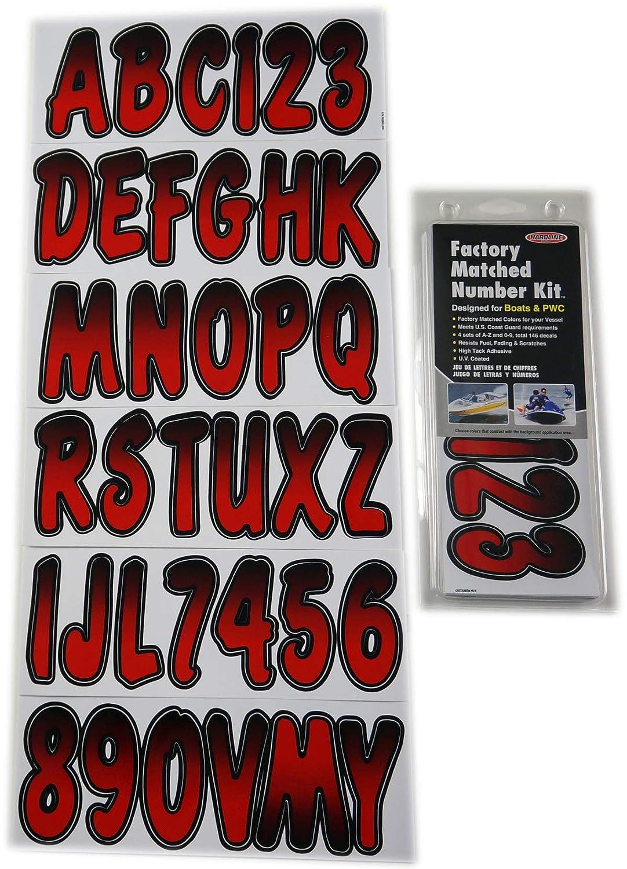Hardline Products TEBKG200 Series 200 Forest Green//Black Factory Matched Registration Number Kit