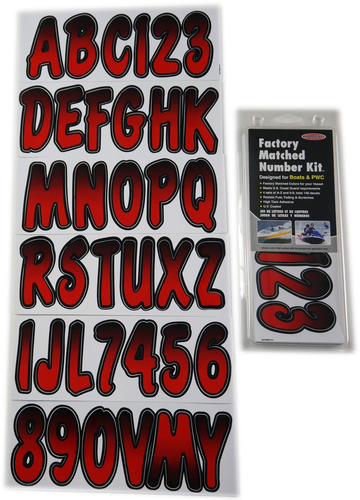 Hardline Products REBKG200 Red/Black Number Factory Matched Registration Kit
