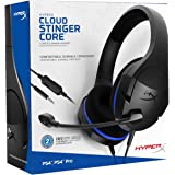 HyperX Cloud Stinger Core - Gaming Headset for PS4, Playstation 4, Nintendo Switch, Xbox One Headset, Over-Ear Wired Headset with Mic, Passive Noise Cancelling, VR (HX-HSCSC-BK)