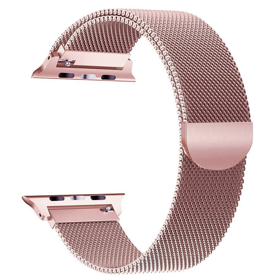 GEEP Compatible for Apple Watch Band 42mm 44mm Milanese Loop for iwatch Band Series 2 3 4 Rose Gold
