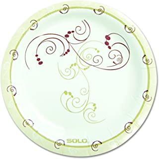product image for SOLO CUPS MP6J8001CT Symphony Paper Dinnerware, Mediumweight Plate, 6-Inch, Tan, 1000/Carton