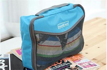 KAFEI Forfait voyage de stockage de grande taille vêtements bage, bleu