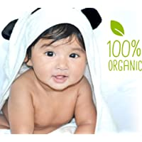 Baby hooded towel JJL Snuggle - 100% Organic made from Bamboo a complete new born babies & kids up to 8yrs Gift set - 90…