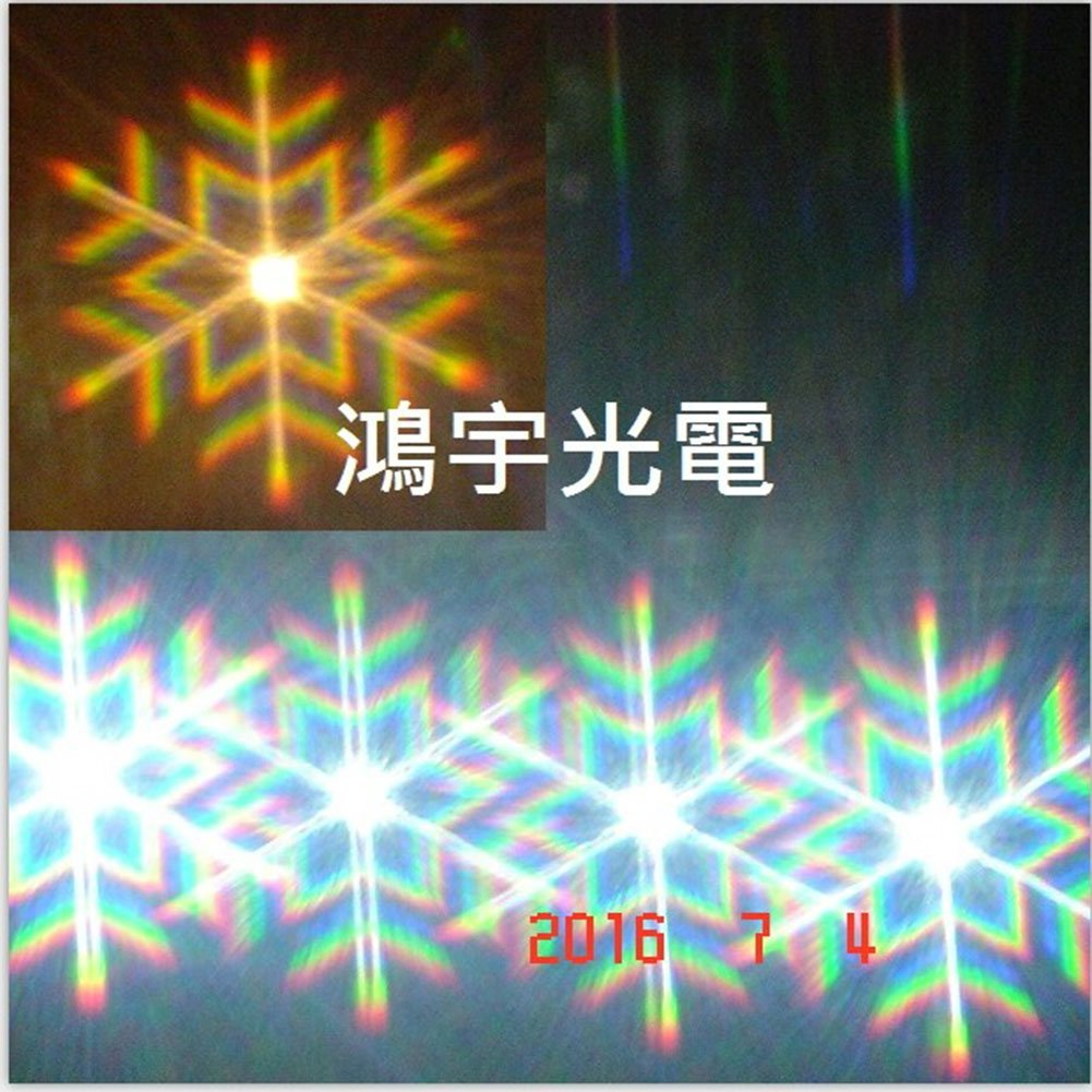 A4 diffraction grating sheet snowflake lines -11 * 8 inch clear PET diffraction firework films -2pcs Hony Optical Company Limited DF01