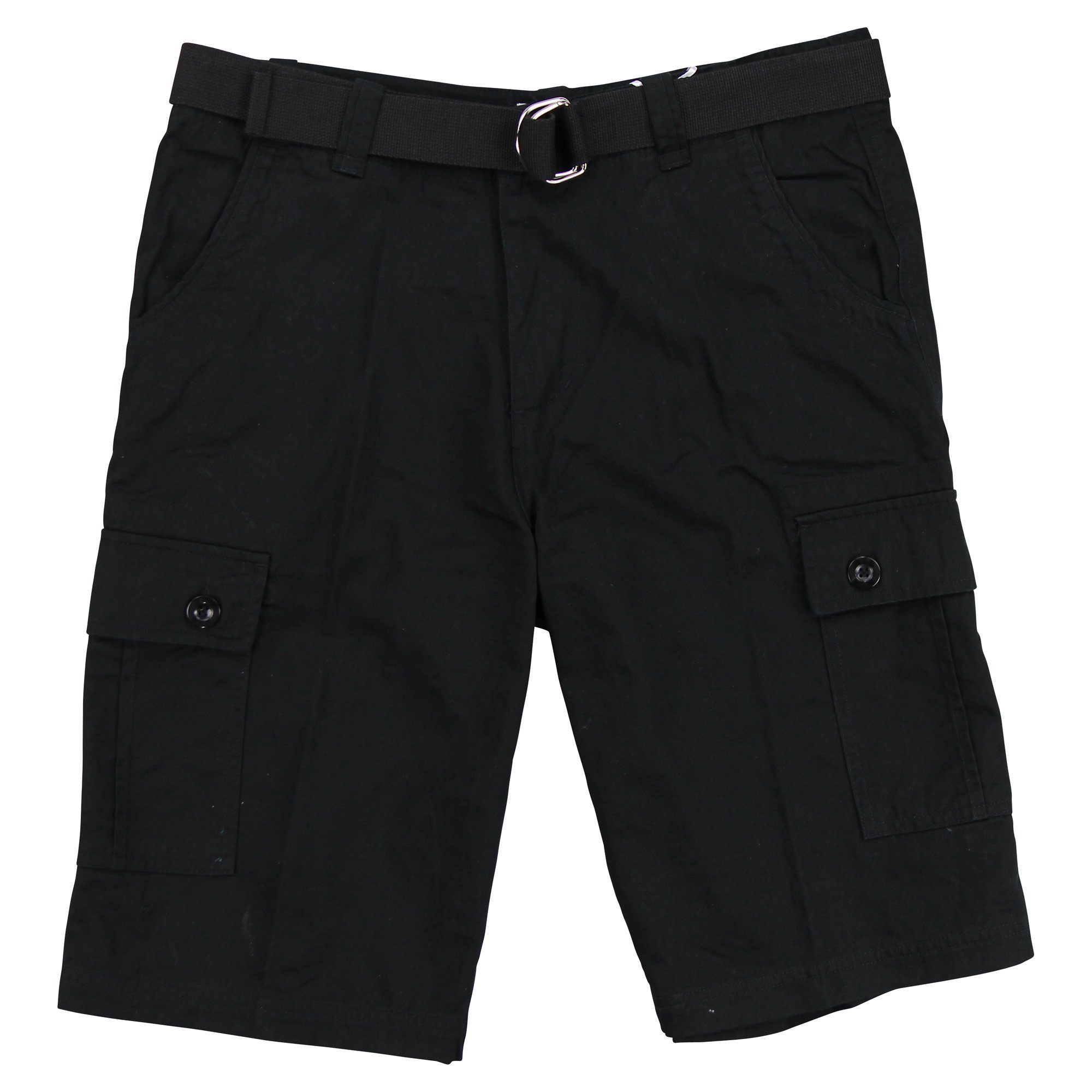 One Tough Brand(OTB) Mens Belted Cotton Cargo Short (Black, 30)