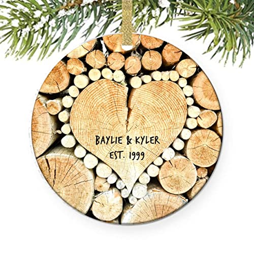Amazon Heart With Wood Christmas Tree Ornament Trees For Our