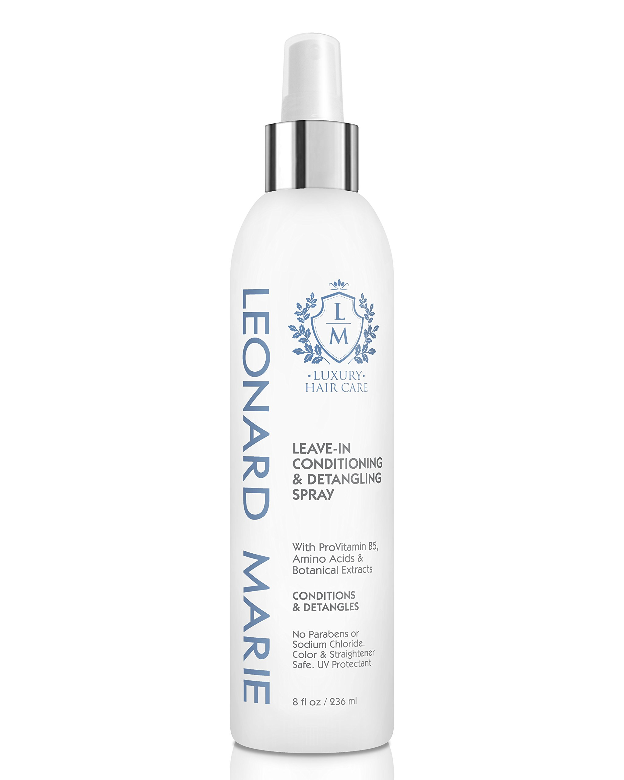 Leonard Marie Leave-In Conditioner Spray - Detangling Spray with ProVitamin B5 and Amino Acids Plus UV Protection, Safe for Color Treated Hair - Conditioning and Nourishing by Leonard Marie Hair