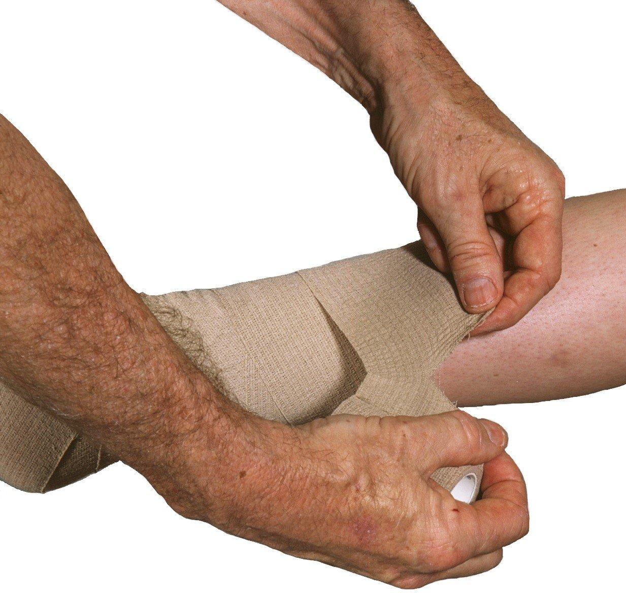 Medi-Rip LF Self-Adherent Bandage, Tan, 3 Inch x 5 Yards - 1/Box of 12