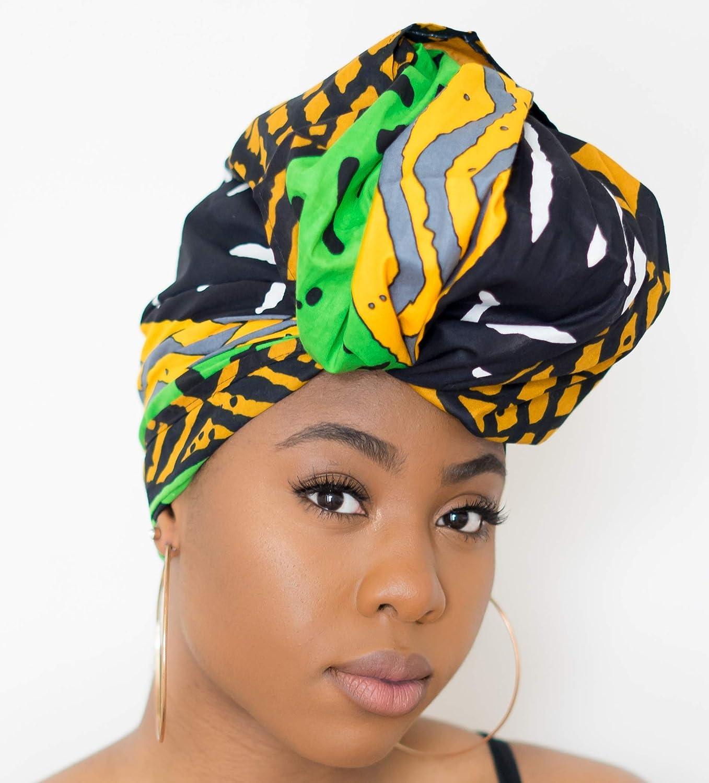 African headwrap for women, Rasta Head wrap NOT PRE-TIED