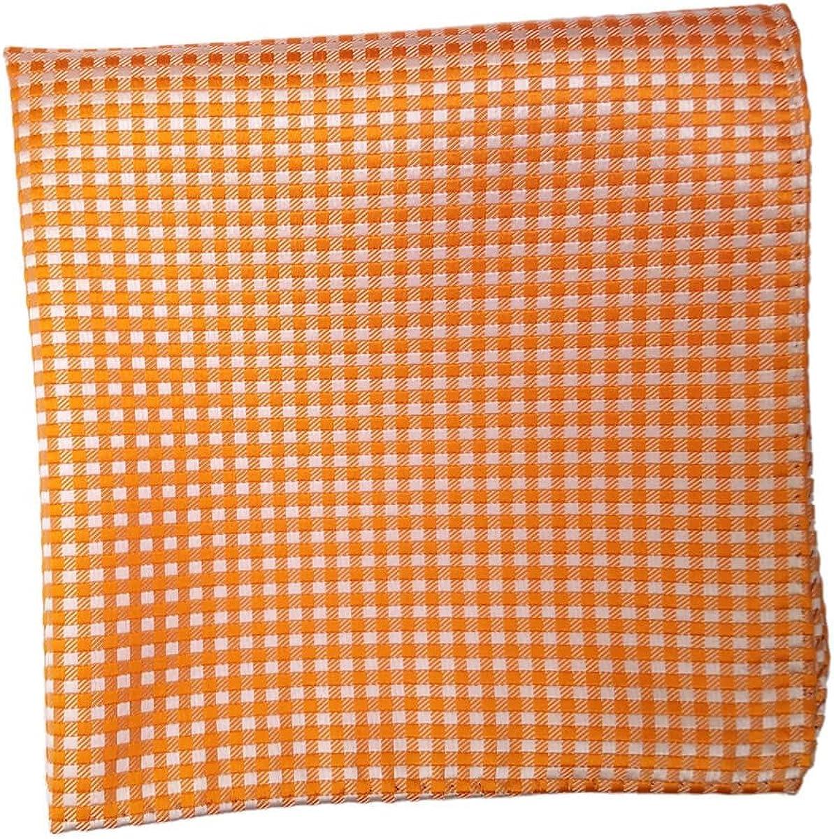 Tangerine Dot 100/% Imported Silk 12 Inch Pocket Square
