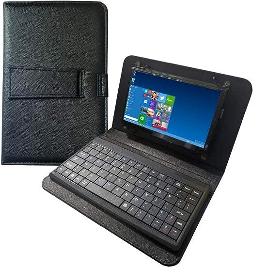 para Pantalla Raspberry Pi 4 - Pantalla táctil de 7 Pulgadas con Funda de Cuero y Teclado USB Separado - Pantalla IPS 1024x600 - Mini Monitor para ...