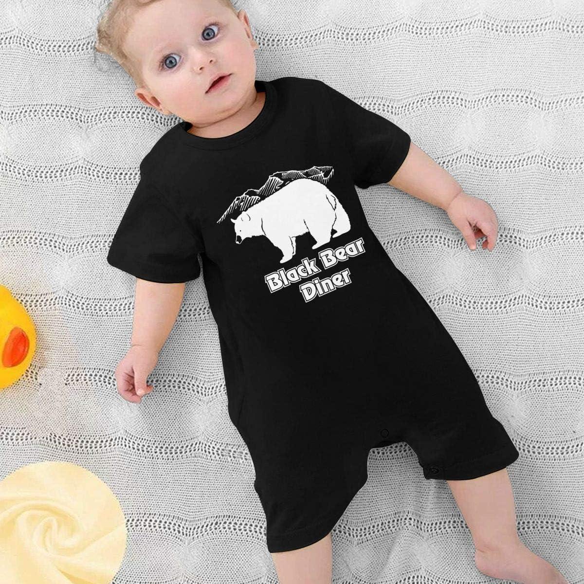 Baby Bodysuit Jumpsuit Black Bear Diner Logo Pajamas One-Piece Rompers