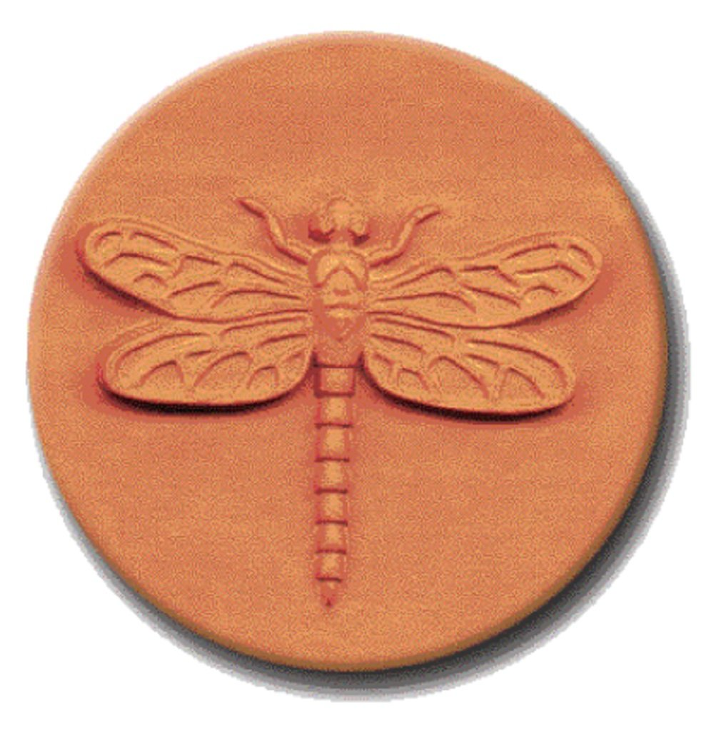 RYCRAFT 2'' Round Cookie Stamp with Handle & Recipe Booklet-DRAGONFLY
