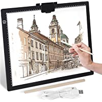 """XZN A3 Tracing Light Pad for Diamond Painting, Stepless Dimming 6-Level Brightness, Portable 0.27"""" Ultra Large-Thin LED…"""