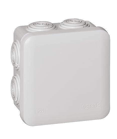 Legrand 92012 Caja de conexiones eléctricas, 90x90x50 mm: Amazon ...