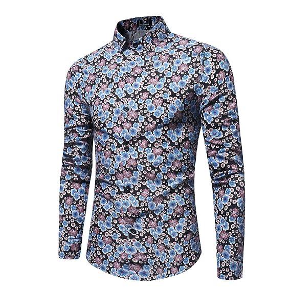 Blusa de Hombre, Polo de Hombre, Camisetas de Hombre, BaZhaHei, Manga Larga Estampada de Hombre de Blusa Impresa de la Manera Camisas Ocasionales de Manga ...