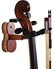 Violin Hanger With Bow Hanger Wall Mount for Viola Violin stand with bow holder MA-5