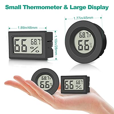 UK stock. Batteries NOT included. Mini LCD Digital Thermometer Hygrometer.