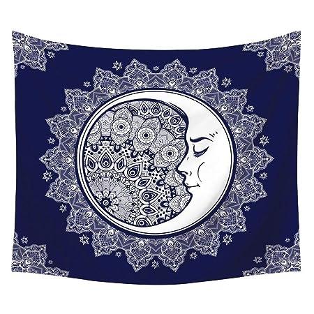 Handfly Sun Moon Star Tapiz Colgante de Pared Mandala ...
