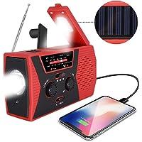 [2019 Upgraded Version] RegeMoudal Emergency Solar Hand Crank Radio, NOAA Weather Radio for Emergency with AM/FM, LED Flashlight, Reading Lamp, 2000mAh Power Bank and SOS Alarm