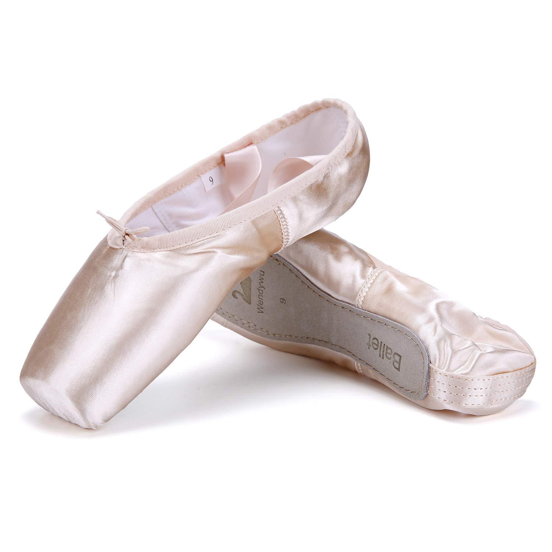 (ウェンディーウー) WENDYWUバレエシューズ ダンスシューズ トゥパッドプロテクター入りトゥシューズ プロ仕様 ガールズ用 B07MNYBG4H   10