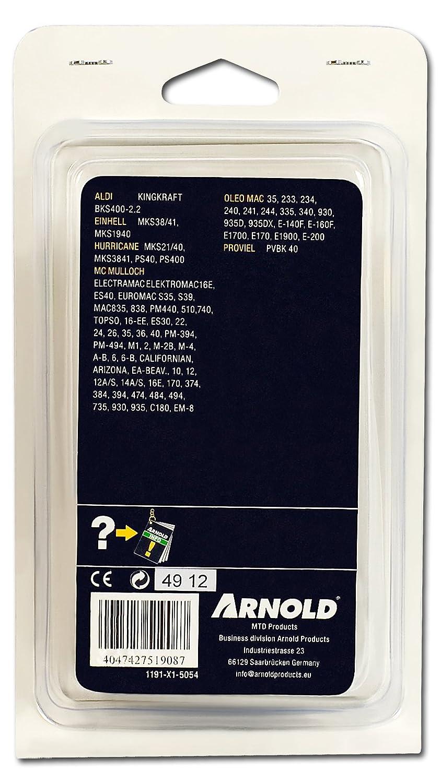 "MTD//Arnold Sägekette 3//8/"" 40cm Schwert 1191-X1-5054 1.3mm 54 TG"