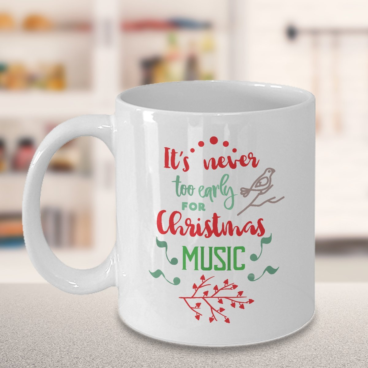 Amazon.com: Coffee Mug, Gift For Christmas, Its Never Too Early For ...
