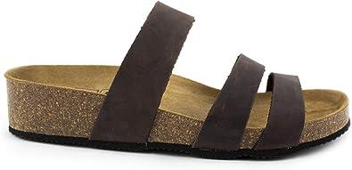 Sandalias Planta Bio. Sandalias de Piel Sprinter Color Negro o Moka, Números del 36 al 41. Sandalias de Piel Fabricadas en España.: Amazon.es: Zapatos y complementos