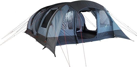 10T Camping Zelt Kallisto 6 aufblasbares AirTube Tunnelzelt mit Schlafkabine für 6 Personen Outdoor Familienzelt mit Wohnraum, eingenähte Bodenwanne,