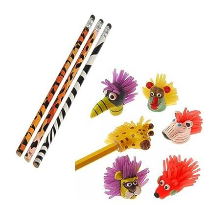 amazon com twicebooked crazy safari pencil wild animal pencil