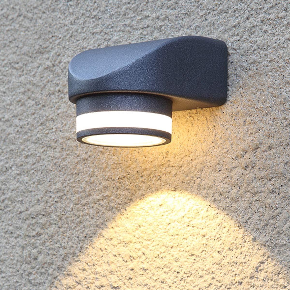 Nero-3000K Lampada da Muro con Induzione Magnetica 12W LED Luce Bianca Calda 3000K Schermo Regolabile 180 Gradi in Alluminio per Corridoio Soggiorno Camera da Letto Dr.lazy Applique a Parete