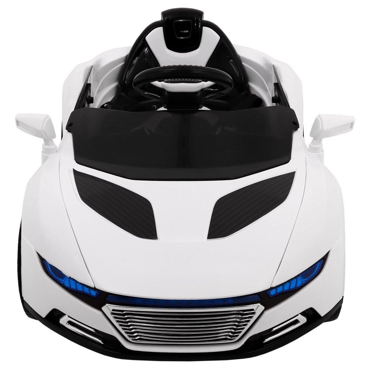 Coche Electrico para Niños Auto Alimentado con Batería Vehículo Eléctrico Control Remoto - S-Turbo - Blanco: Amazon.es: Juguetes y juegos