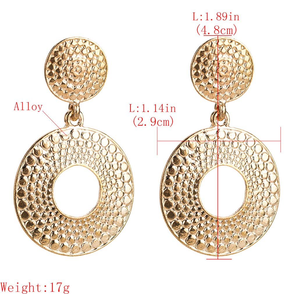 YAZILIND Exaggerated Big Ring Drop Dangle Earrings Bohemian Jewellery Gift for Her