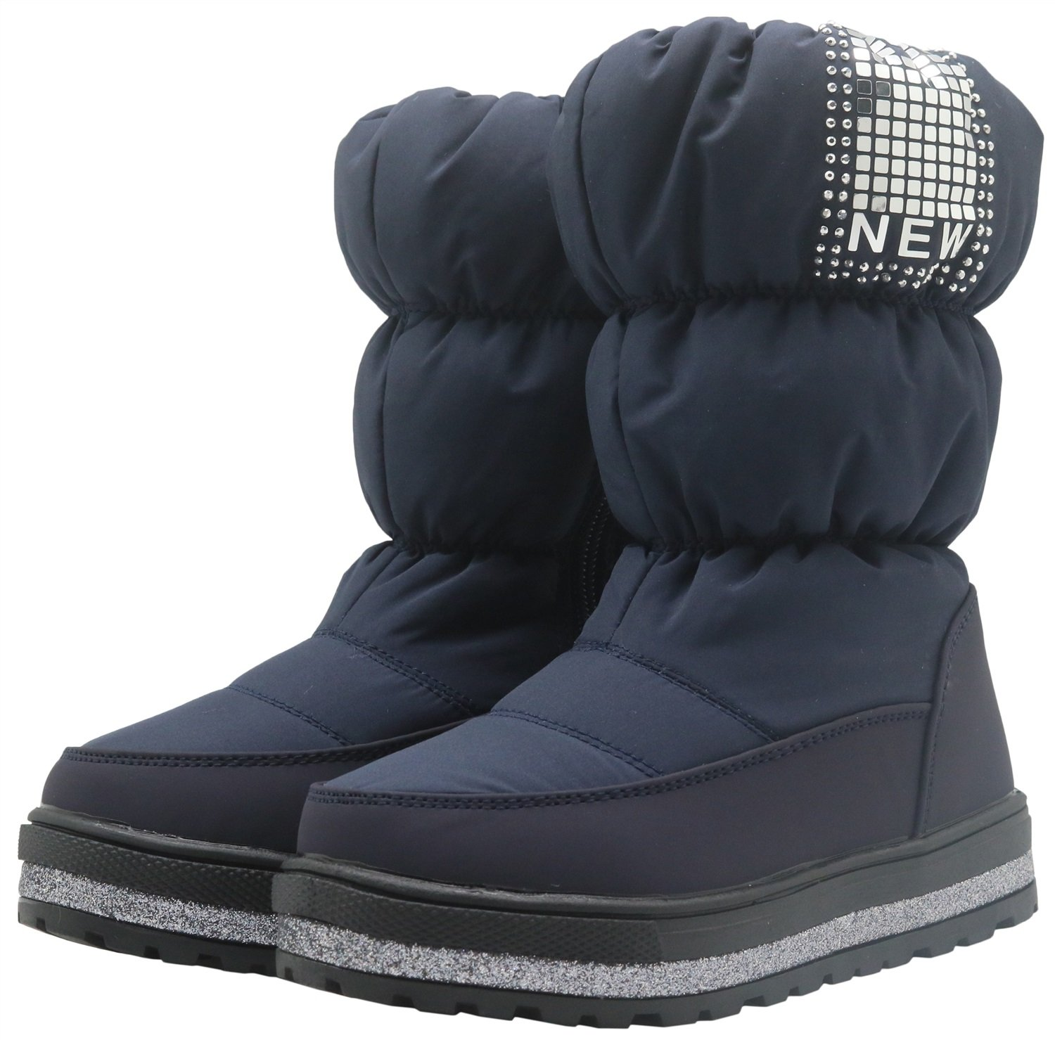 Durable Toddler//Little Kid Color : Blue1 , Size : 8.5 M US Toddler Non-Slip Kids Shoes Girls Snow Boots with Woolen Lining