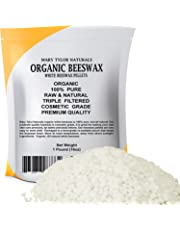 Organic White Beeswax Pellets 1lb (453 g) Premium Quality, Cosmetic Grade, Triple Filtered Bees Wax Pastilles Great for DIY Lip Balm Recipes Body Creams Lotions Deodorants By Mary Tylor Naturals