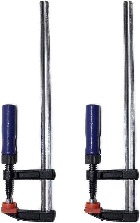 Ironside 820112 Serre-joint /à vis 50x300mm avec manche en Bois Multicolore