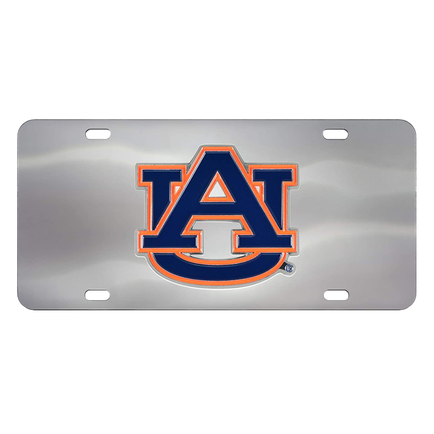 Auburn Tigers 3D Logo Chrome License Plate