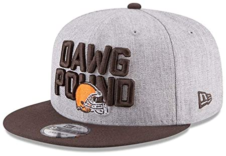 Amazon.com   New Era Cleveland Browns Dawg Pound NFL Authentic Heather Gray Adjustable  Snapback Hat   OSFM   Sports   Outdoors c94b3386e