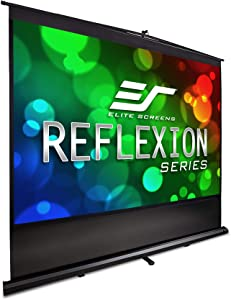 Elite Screens Reflexion Series, 120-INCH 4:3, Manual Pull Up Projector Screen, Movie Home Theater 8K / 4K Ultra HD 3D Ready, 2-YEAR WARRANTY, FM120V