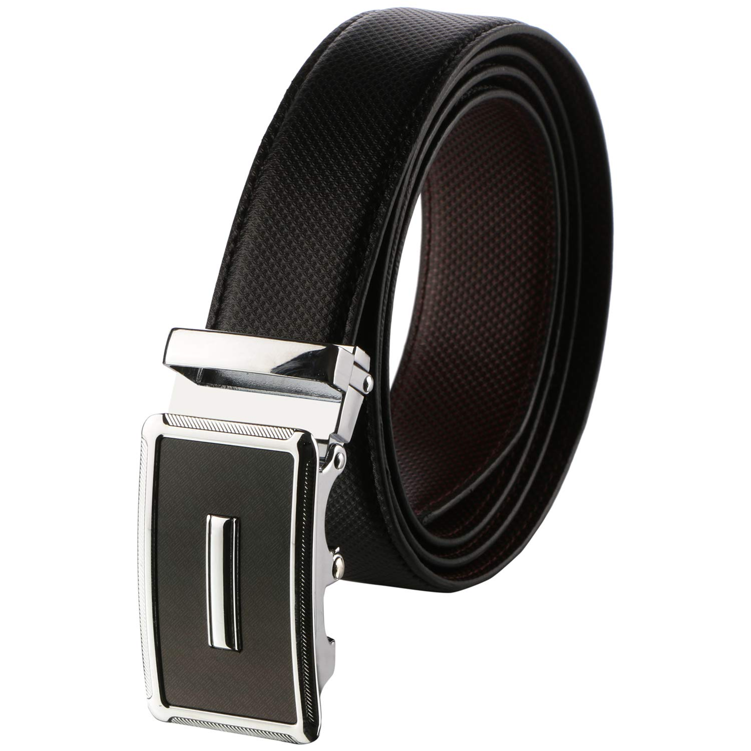 Labnoft Men's PU Leather Belt with Automatic Buckle, Black and Brown, Free Size product image