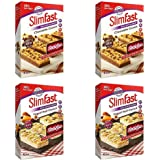 Slimfast Meal Replacement Variety Bars Yoghurt fruit Crunch and Chocolate Crunch Meal 4 Boxes 2 of Each Flavour 16 Bars in Total