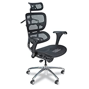 "Balt Butterfly Ergonomic Executive Office Chair, Blach Mesh High Back, 48-51""H x 28""W x 24""D (34729)"