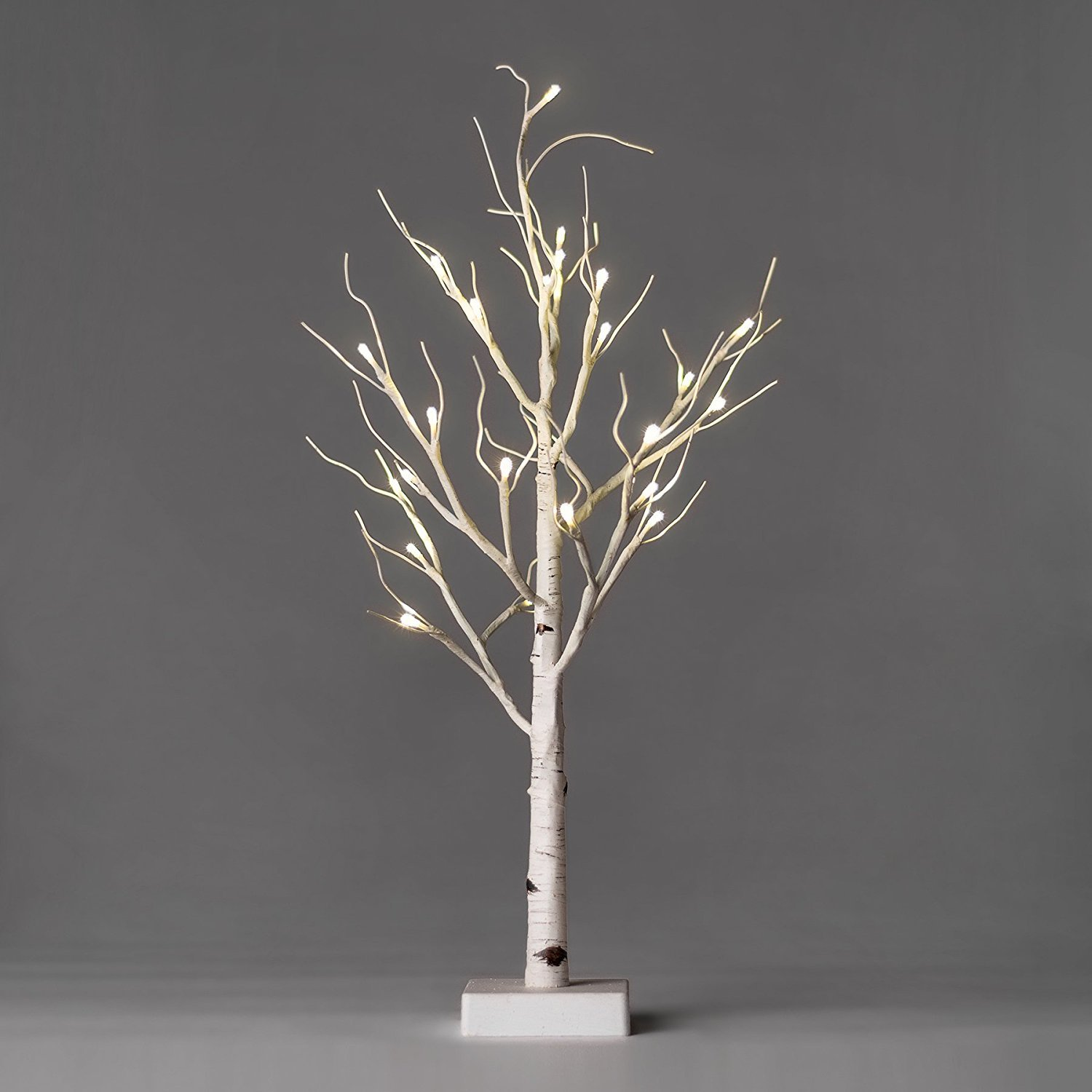 Primitives by Kathy Birch Lit Tree 2 inches Tall Plastic Wire Christmas Trees