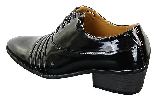 Classique Scarpe Eleganti da Uomo in Finta Pelle Lucida con Lacci e Tacco  Cubano  Amazon.it  Scarpe e borse aac36a9ebab